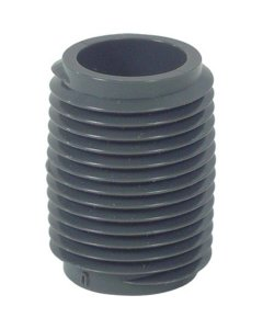 Close Nipple, Gray (MNPT) Schedule 80 PVC