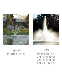 Kasco J-Series Floating Fountains 3/4-hp to 5-hp