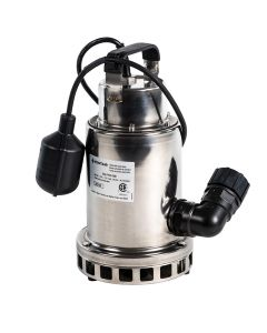 Submersible Stainless Steel Pump, 3/4 hp
