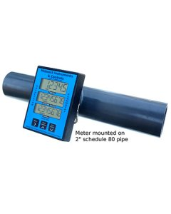 """In-Line Digital Flow Meter With Totalizer, 2"""" pipe size, Sch. 40"""